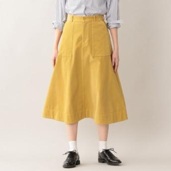 SALE【エムピー ストア(MP STORE)】 サマーコーデュロイスカート イエロー