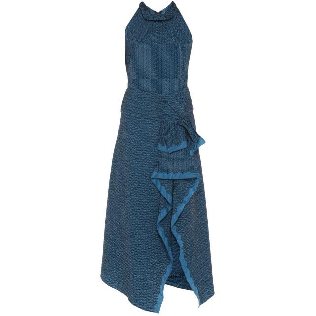 《期間限定セール開催中!》ROLAND MOURET レディース ロングワンピース&ドレス ダークブルー 14 ナイロン 50% / コットン 50%