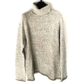 【中古】 ジユウク 長袖セーター サイズ46 XL レディース ライトグレー グレー タートルネック
