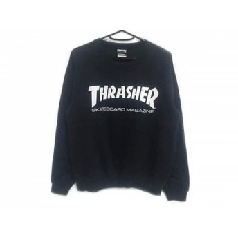 【中古】 スラッシャー THRASHER トレーナー サイズM メンズ 黒 白