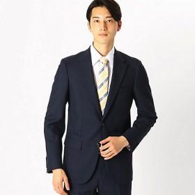 <COMME CA ISM (メンズ)> 《セットアップ》 カノニコ super120's グレンチェック スーツジャケット(4703GL12) ネイビー 【三越・伊勢丹/公式】
