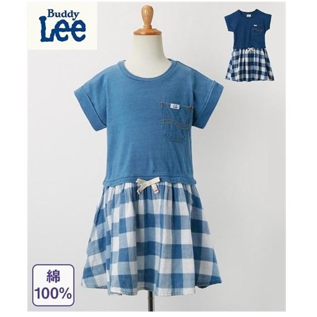 0148734689cbe BUDDY Lee ワンピース キッズ Buddy Lee 綿100% 切替 女の子 子供服 チュニック 身長80