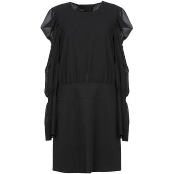 《セール開催中》PATRIZIA PEPE SERA レディース ミニワンピース&ドレス ブラック 42 ポリエステル 100% / ポリウレタン