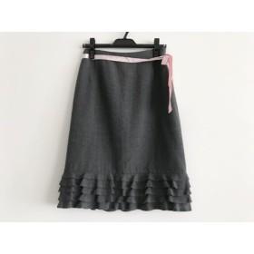 【中古】 エムズグレイシー M'S GRACY スカート サイズ38 M レディース グレー フリル