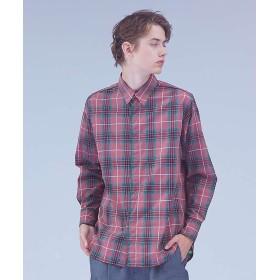 【30%OFF】 アバハウス コットンスラブチェックウェスタンシャツ メンズ ピンク L 【ABAHOUSE】 【セール開催中】