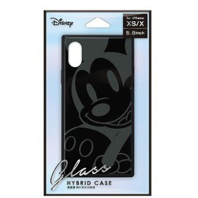 PGA iPhone Xs/X用 ガラスハイブリッドケース PG-DCS660MKY ミッキーマウス/ブラック