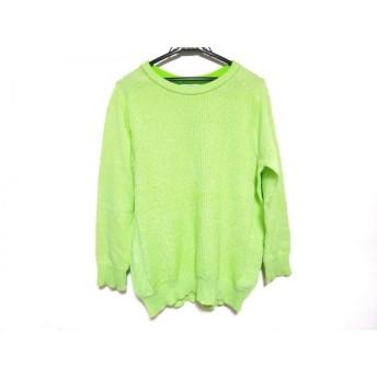 【中古】 オープニングセレモニー OPENING CEREMONY 長袖セーター サイズM レディース ライトグリーン