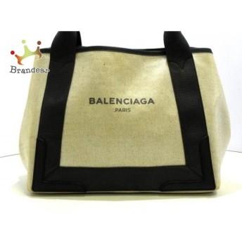 バレンシアガ BALENCIAGA トートバッグ ネイビーカバS 339933 アイボリー×黒 値下げ 20190910