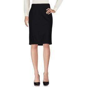 《期間限定セール開催中!》CLIPS レディース ひざ丈スカート ブラック 50 バージンウール 95% / ポリウレタン 5%