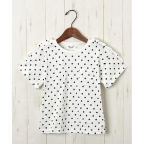 綿100%肩フリルポケット付Tシャツ(女の子 子供服) Tシャツ・カットソー