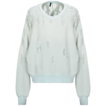 《期間限定セール開催中!》BEN TAVERNITI UNRAVEL PROJECT メンズ スウェットシャツ ライトグリーン XXS コットン 100% / ポリウレタン
