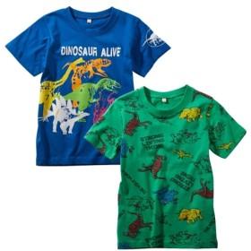 綿100%プリント半袖Tシャツ2枚組(男の子 子供服) Tシャツ・カットソー