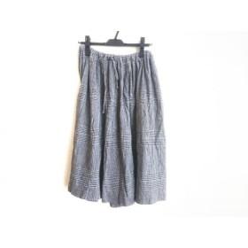 【中古】 ツモリチサト TSUMORI CHISATO スカート レディース グレー ダークグレー ネイビー チェック柄