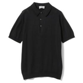 JOHN SMEDLEY / 30ゲージ ニットポロシャツ メンズ ポロシャツ BLACK M