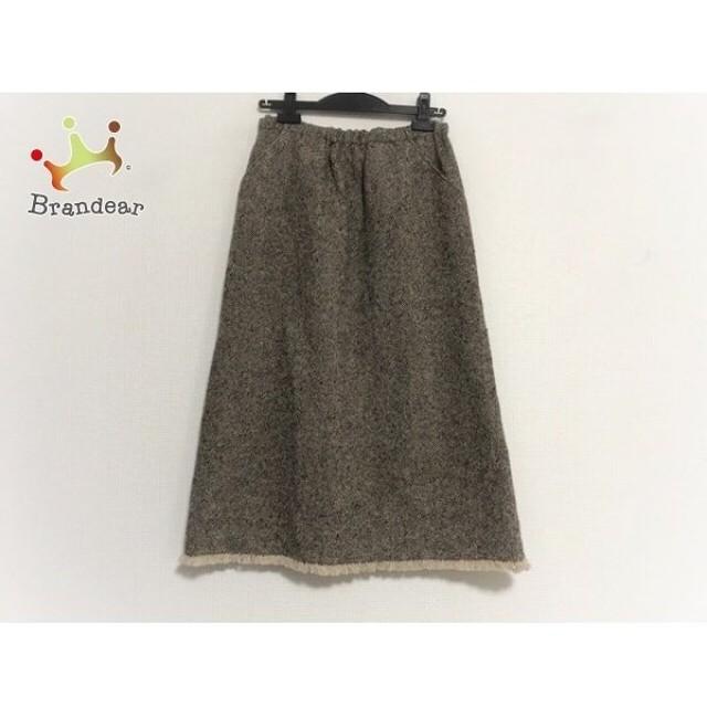 ニジュウサンク 23区 スカート サイズ38 M レディース 美品 ベージュ×ダークブラウン     スペシャル特価 20190801