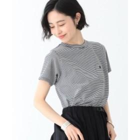 BEAMS BOY / ミジンコ ボーダー ポケット Tシャツ 19 レディース Tシャツ BLACK×WHITE ONE SIZE