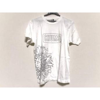 【中古】 チャムス CHUMS 半袖Tシャツ サイズM メンズ 新品同様 白 布描きクレヨン付き