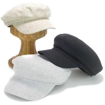 キャスケット - Smart Hat Factry <春夏新作>リネン風マリンキャスケット ヤング 帽子