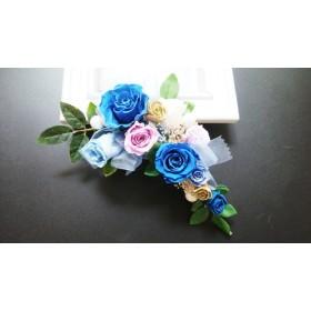 髪飾りAlice 青薔薇のヘッドドレス ロイヤルブルー プリザーブド 結婚式 パーティー他