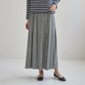 蓄熱保温機能フリースパンツ付きカットソープリーツスカート