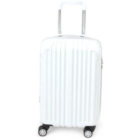 【静快キャリー】ジッパーハードスーツケース S 【1-2泊対応】【機内持ち込みサイズ】 ホワイト