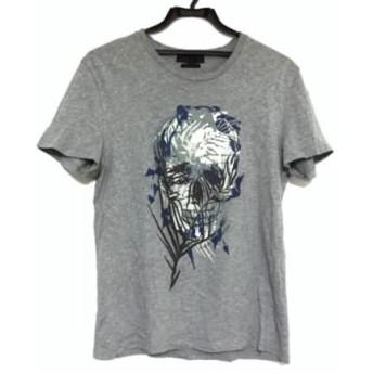 【中古】 アレキサンダーマックイーン 半袖Tシャツ サイズS レディース グレー ネイビー マルチ