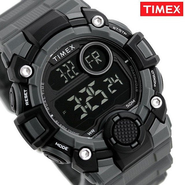 01eec79bfa タイメックス 時計 デジタル メンズ 腕時計 TW5M27500 TIMEX エーゲーム ブラック×グレー