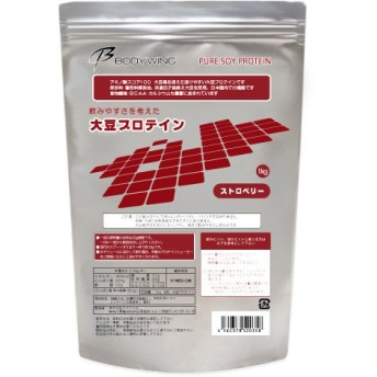 大豆プロテイン 1kg ストロベリー 飲みやすいソイプロテイン