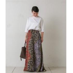 BEARDSLEY / ビアズリー パッチワークヘリンボンスカート