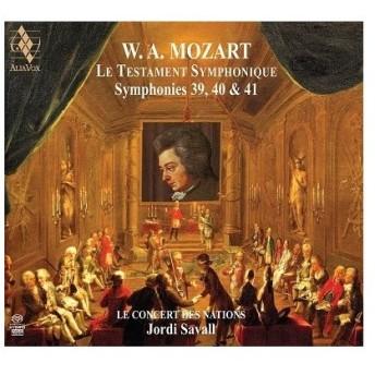 ジョルディ・サヴァール 交響曲による遺言〜モーツァルト: 交響曲第39番、第40番、第41番「ジュピター」 SACD Hybrid