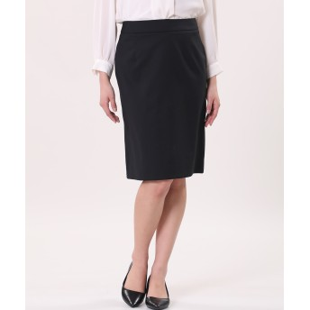 CLEAR IMPRESSION 《FLANDRE》SOLOTEX(R) タイトスカート《洗えるセットアップ》 ひざ丈スカート,スミクロ5