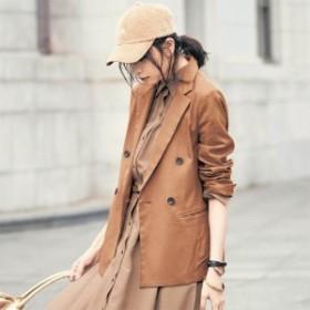 【まとめ買いでさらにお得】カーディガン感覚で着られるストレッチダブルブレストジャケット