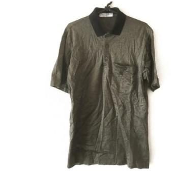 【中古】 ジバンシー GIVENCHY 半袖ポロシャツ メンズ 黒 グレー MONSIEUR