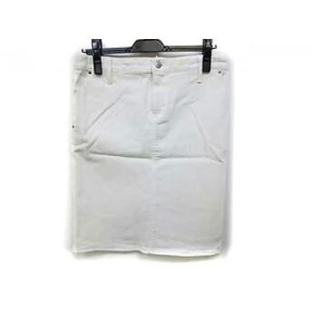 【中古】 ジユウク 自由区/jiyuku スカート サイズ27 M レディース 美品 白 デニム