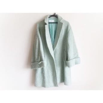【中古】 スライ SLY コート サイズF レディース ライトグリーン 冬物
