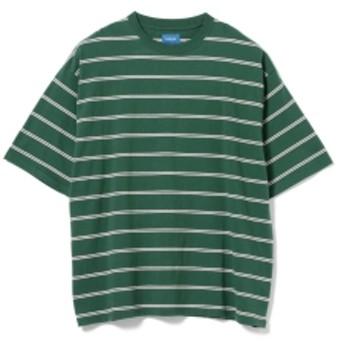 BEAMS / ビッグ ボーダー Tシャツ メンズ Tシャツ GREEN S
