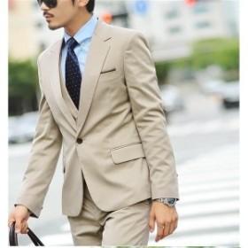 スーツメンズスリム1つボタン2点スーツセットアップパンツ+ジャケットスタイリッシュ紳士服結婚式二次会就職成人式スーツ