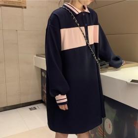 ワンピース - DearHeart ★トレンドファッション♪配色襟付ワンピース★春夏新作 韓国ファッション