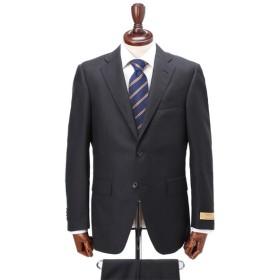 【マルラーネ】2ボタンワンタックレギュラースーツ(メンズ) クロ(シャドーストライプ織柄)