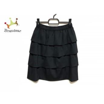 トゥービーシック TO BE CHIC スカート サイズ40 M レディース 美品 黒 フリル スペシャル特価 20190802