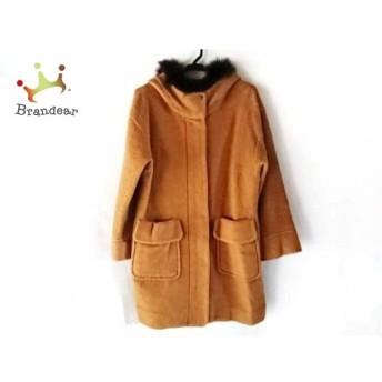 ブラーミン BRAHMIN コート サイズ38 M レディース ブラウン×ダークブラウン 冬物/ファー 新着 20190602
