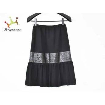 ニジュウサンク 23区 スカート サイズ38 M レディース 美品 黒 部分レザー スペシャル特価 20190803