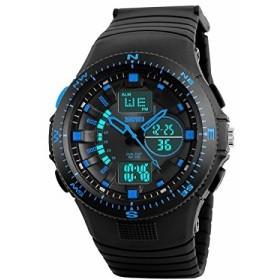 04764c83c3 BesWlzメンズデジタル防水LEDスポーツ腕時計カジュアル多機能12H / 24H ...