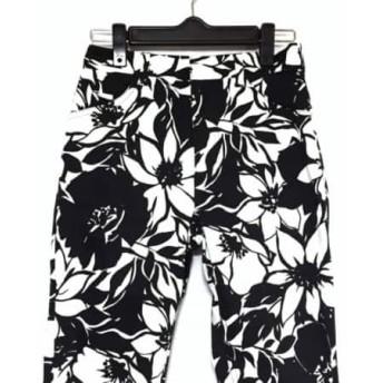 【中古】 ピンキー&ダイアン Pinky & Dianne パンツ サイズ36 S レディース 美品 黒 白 花柄