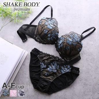 Shake Body Love Rose Tule シリーズ 3/4カップブラジャー ショーツセット