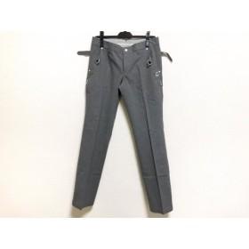 【中古】 パーリーゲイツ PEARLY GATES パンツ サイズ0 XS レディース グレー 白 ストライプ
