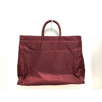 【中古】 プラダ PRADA トートバッグ 美品 - ボルドー ナイロン