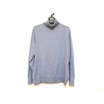 【中古】 ランバンコレクション LANVIN COLLECTION 半袖セーター サイズL メンズ ライトブルー