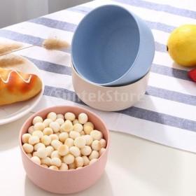 4ピース小麦わら麺丼ボウルディナースープフルーツサラダボウル台所用品