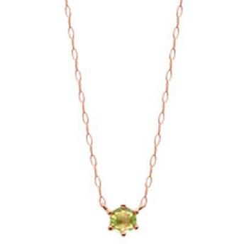 【Milluflora:アクセサリー】【WEB限定商品】8月誕生石 K18 ピンクゴールド ペリドット ネックレス